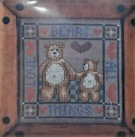 1987 NIP VTG Counted Cross Stitch Embroidery Kit Love Bears All Things 5x5 6938F