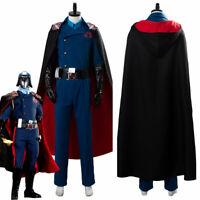 G.I.JOE The Rise of Cobra Cobra Commander Cosplay Costume Uniform Halloween Cape