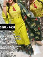 Indian kurta dress With  palazzo Top Tunic Set blouse Combo Ethnic Bottom -hp11