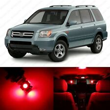 16 x Red LED Lights Interior Package Deal For Honda PILOT 2006 - 2008 + TOOL
