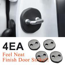 Door Striker Cover Hook Garnish Black Molding 4EA for KIA 2011-2015 Optima K5