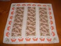 Vintage Tammis Keefe Butterflies & Watermelons Hanky Handkerchief Hankies