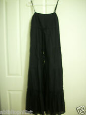 GRACE ELEMENTS SMALL MAXI DRESS COTTON Junior BLACK SLEEVELESS Women STRAPS NEW