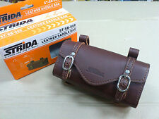 Strida bicycle Leather Saddle Bag  ST-SB-008, Brown & Rear