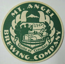 MT. ANGEL BREWING COMPANY Beer COASTER Mat, Mt. Angel, OREGON in 1997, CLOSED
