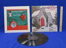 Vintage LP Christmas Carols 1 Album by Ken Griffin 2 Albums Assorted Artists