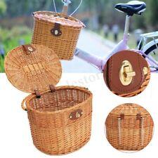 Wicker Front Handlebar Bike Bicycle Basket For Shopping Stuff Pets Fruits