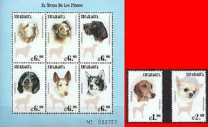 👉 NICARAGUA 2000 the WORLD of DOGS M/S + SET of 2 MNH DOMESTIC ANIMALS