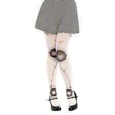 Broken Doll Costume Tights Adult Creepy Halloween Pantyhose
