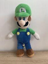 """Super Mario 15"""" Luigi Soft Plush Toy Large Big Official 2016 Nintendo In VGC"""