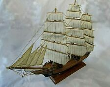 "CUTTY SARK CLIPPER - - SPANISH HAND MADE WOOD & CANVAS MODEL  26"" L X 20"" H"