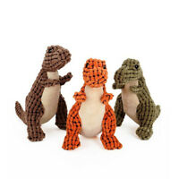 Dinosaur Pet Dog Chew Squeaker Plush Toy Puppy Squeaky Sound Playing Funny Toy