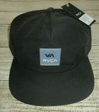 One Size RRP $39.99 NWOT RVCA Distorted Tawny Strap Back Peaked Cap