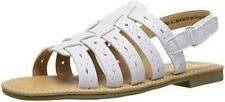 New Rachel Shoes Kids Girls Petra Slide White Smooth Sandals Size 2 M US Big Kid
