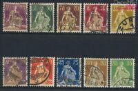 Schweiz 101-110 gestempelt 1908 sitzende Helvetia (9036613