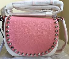 NWT Rebecca Minkoff Unlined Saddle bag Handbag Purse $295 Guava Pink