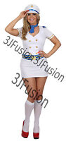 Sailor Girl Fancy Dress Costume Nautical Navy Outfit Hen Party.  Free POST (BH)