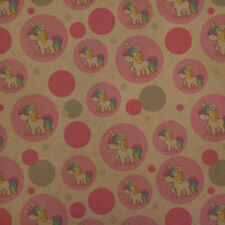 Cute Kawaii Rainbow Unicorn Chibi Premium Kraft Gift Wrap Wrapping Paper Roll