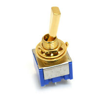 (1) Gold ON-ON-ON 3-way DPDT Mini Toggle Switch for Guitar/Bass EP-0080-002