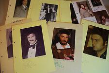 Bernd Weikl-ópera - 15 autógrafos originales-tamaño 30 x 21 cm
