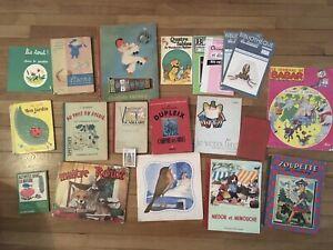 Lot Livres  Anciens Benjamin Rabier Alain Gréé Babar Illustrés Enfantina Nature