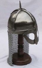 Medieval Armour Viking Mask Armour Helmet With Chainmail Reenactment Replica!!