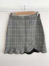 Zara Gingham Checked Mini High Waisted Skirt S