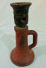 Antique Cast Iron Screw House Barn Jack Vintage Industrial Steampunk Lamp Base