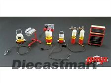 SHELL OIL SHOP GARAGE TOOL 6 PCS SET 1:18 DIECAST BY GMP 18869 NEW ACCESSORY