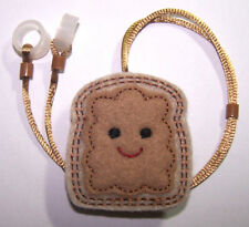 Child's 2 sided Hearing Aids safety Leash loss RETAINER CORD CLIP .P.B. ON BREAD