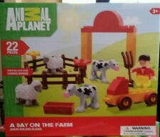 DISCOVERY ANIMAL PLANET A DAY ON THE FARM JUNIOR BUILDING BLOCKS 3+ NEW