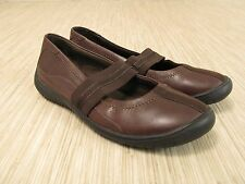Clarks Brown Leather Mary Janes Women's Size US 7 M Medium Width Casual Shoes