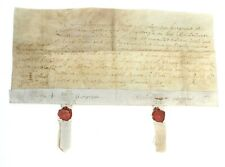 Late 17th Century 1688 Legal Obligation Bond Between Husband and wife on Vellum