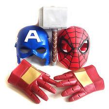 Marvel Comics Avengers Spiderman, Thor, Iron Man, Cap Gaceta Cosplay artículos