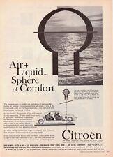 "1960 Citroen Sedan photo ""Only Car w/Air-Oil Suspension"" vintage promo print ad"