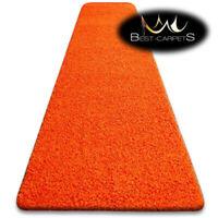 Modern Hall Runners soft SHAGGY Carpet 5cm Orange Width 60-140cm long RUGS