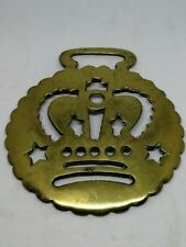19th Century Antique Stamped Horse Brass of a Victorian Royal Crown