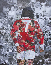 George Best Collage Poster 37x29 cms