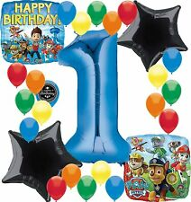 Paw Patrol Birthday Party Supplies Number Balloon Decoration Bundle For (1st ...