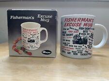 New listing Vintage Fishermans Excuse Coffee Mug Cup Fish Regal Nib ~ Great gift