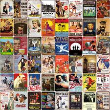 Retro Tin Sign Metal Plates Film Classical Man Cave Movie Customization Decor