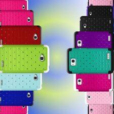 For LG Optimus L70 Bling Phone Cover - Hard Soft Hybrid Armor Diamond Case
