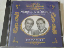 MERRILL & BJÖRLING : Operatic Arias And Duets  > OVP / SEALED (CD)