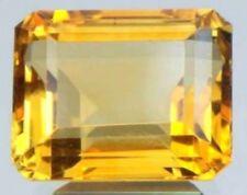 GOLDEN CITRINE 12 x 10 MM EMERALD CUT ALL NATURAL