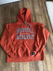 Orange Russell Athletic Hoodie Size XLarge