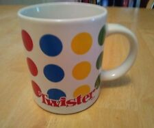 Twister Coffee Cup The Game That Ties You Up In Knots Mug White Red Blue Green