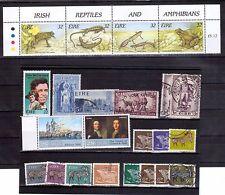 IRELAND selection M+U incl1995 frogs & lizards semi-postal strip MNH
