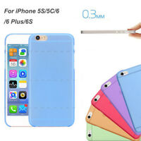 0.3mm Ultra Thin Slim Matte Soft Back Case Cover Skin For iPhone5C 5S 6 6S 4.7""