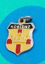 I20 Koblenz Enamel Shield Sterling Silver Vintage Bracelet Charm
