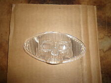 CUSTOM BUILDERS CATS EYE TAILLIGHT  CLEAR SKULL 3D LENSE WITH RED 1157 BULB